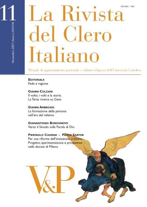 LA RIVISTA DEL CLERO ITALIANO - 2007 - 11
