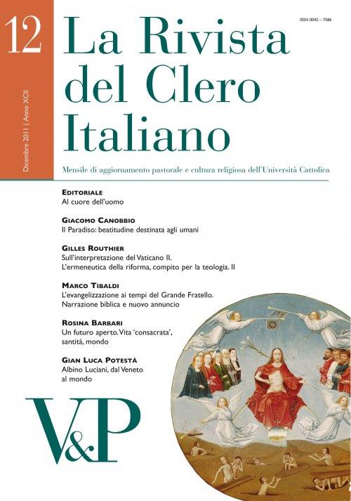 LA RIVISTA DEL CLERO ITALIANO - 2011 - 12