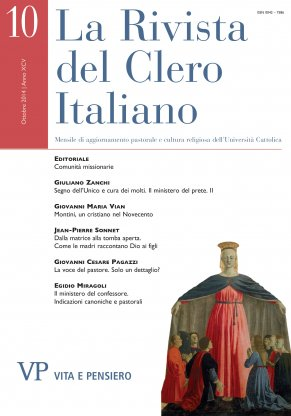 LA RIVISTA DEL CLERO ITALIANO - 2014 - 10