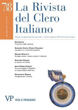 LA RIVISTA DEL CLERO ITALIANO - 2015 - 7-8