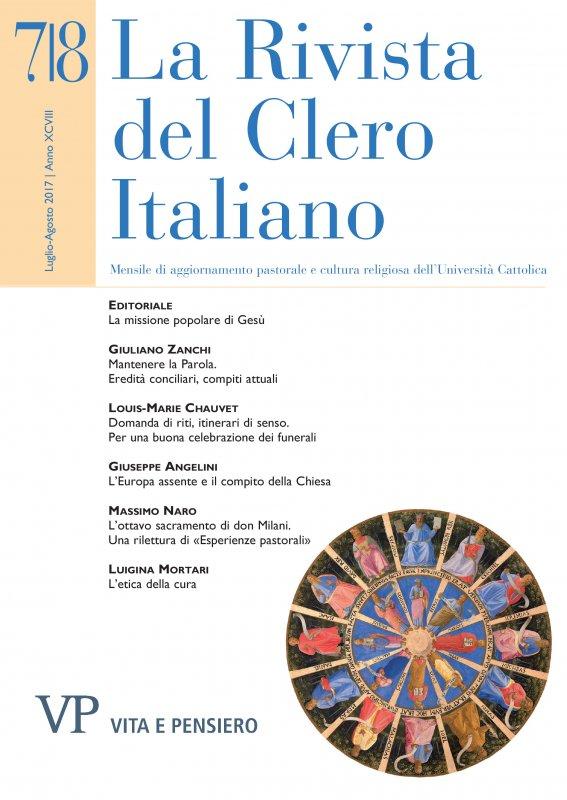 LA RIVISTA DEL CLERO ITALIANO - 2017 - 7 - 8