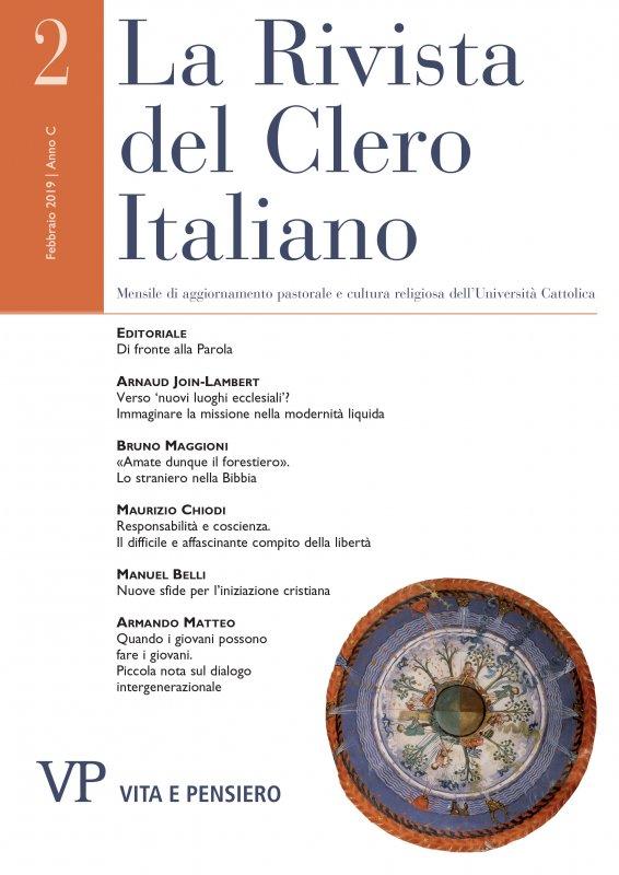 LA RIVISTA DEL CLERO ITALIANO - 2019 - 2