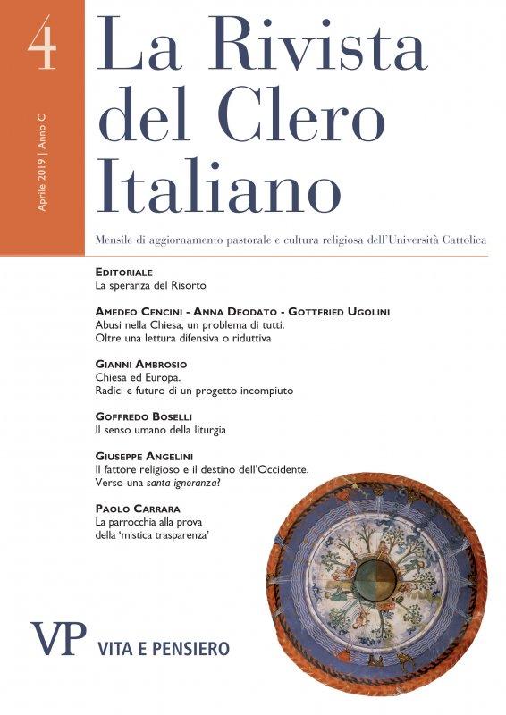 LA RIVISTA DEL CLERO ITALIANO - 2019 - 4