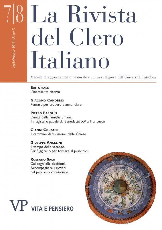 LA RIVISTA DEL CLERO ITALIANO - 2019 - 7-8