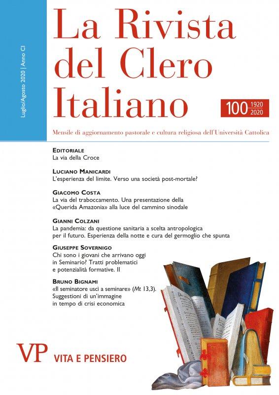 LA RIVISTA DEL CLERO ITALIANO - 2020 - 7-8