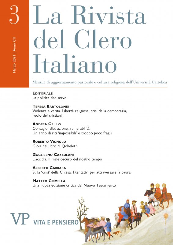 LA RIVISTA DEL CLERO ITALIANO - 2021 - 3