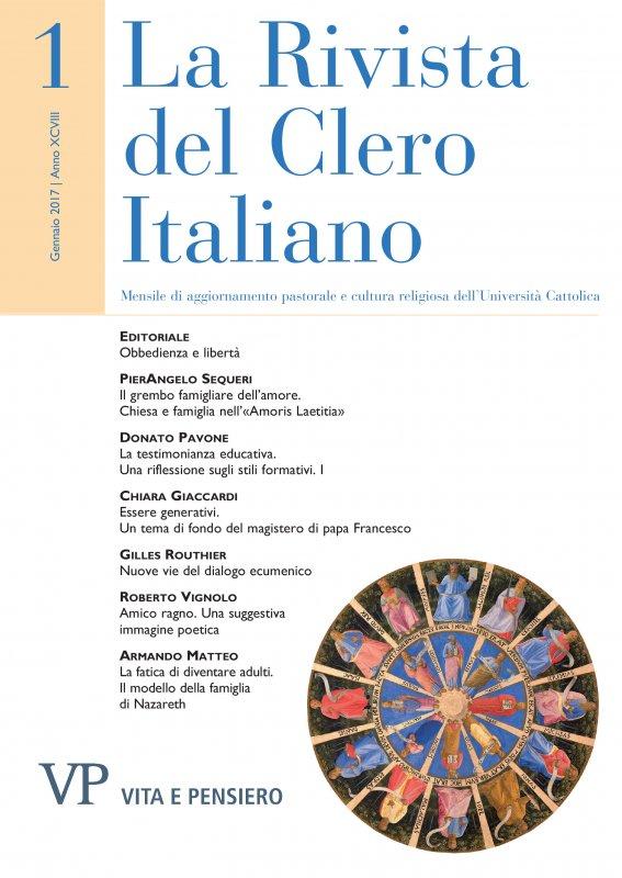 LA RIVISTA DEL CLERO ITALIANO. Abbonamento annuale 2018