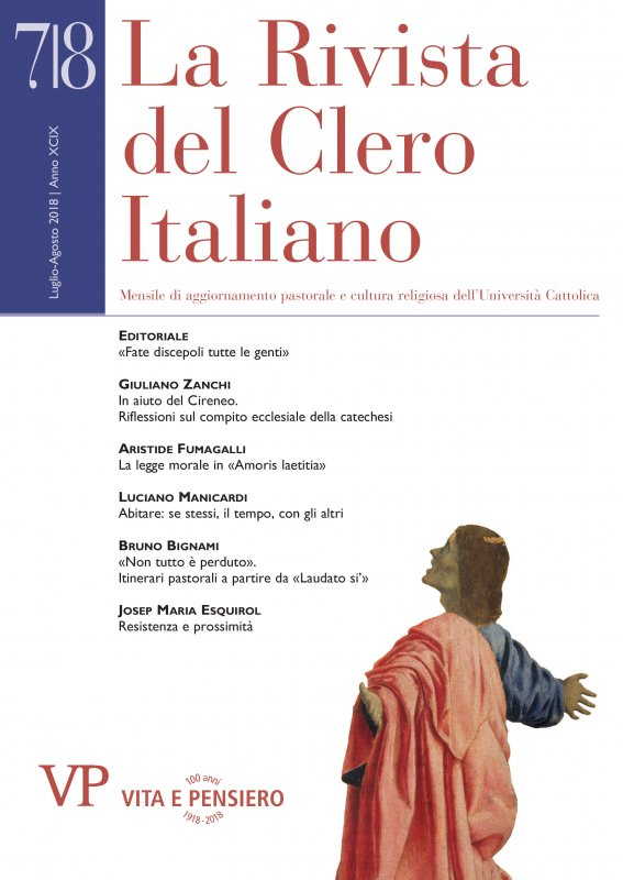 LA RIVISTA DEL CLERO ITALIANO. Abbonamento annuale 2019