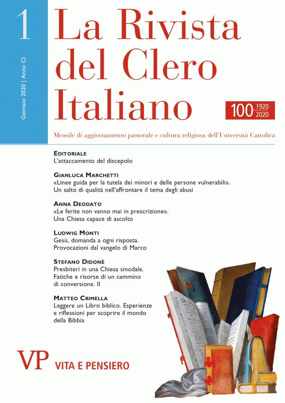 LA RIVISTA DEL CLERO ITALIANO. Abbonamento annuale 2021