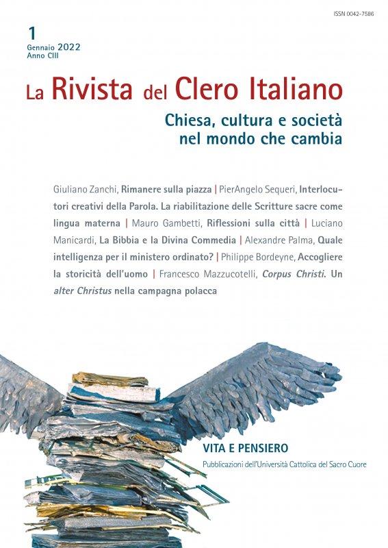 LA RIVISTA DEL CLERO ITALIANO. Abbonamento annuale 2022