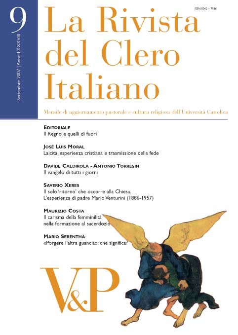 LA RIVISTA DEL CLERO ITALIANO - 2007 - 9