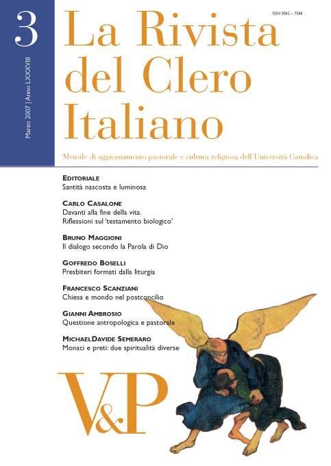 LA RIVISTA DEL CLERO ITALIANO - 2008 - 7-8