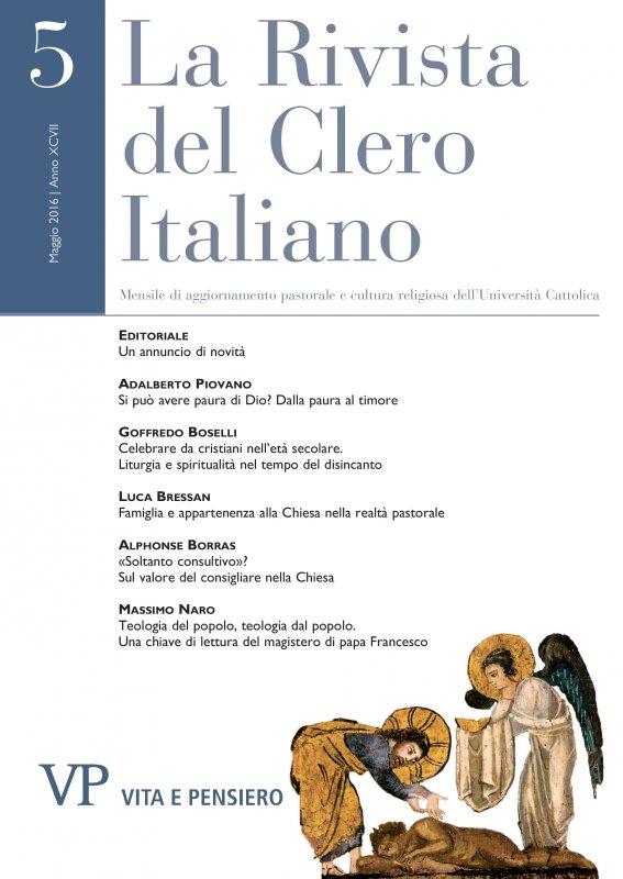 LA RIVISTA DEL CLERO ITALIANO - 2016 - 5