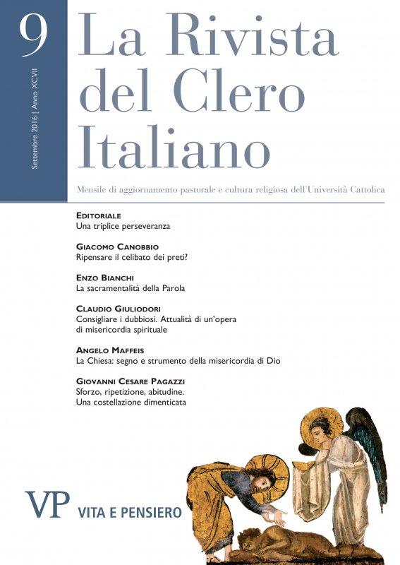 LA RIVISTA DEL CLERO ITALIANO  - 2016 - 9